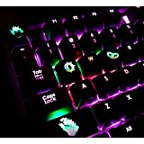 All Decor Overwatch Theme Keycaps Hand-Engraved Resin Translucidus Backlit Key caps for Mechanical Keyboards (cherry switches) With Gift Case - Junkrat