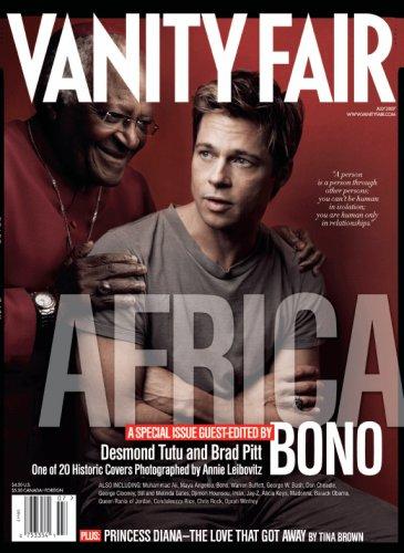 Vanity Fair July 2007 Africa Issue, Brad Pitt / Desmond Tutu Cover