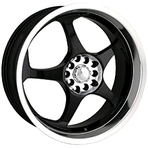 Akita Racing AK-90 490 Black Wheel with Machined Lip (18x7.5