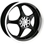 Akita AK-90 490 Black Wheel with Machined Lip (18×7.5″)
