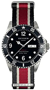 OXYGEN Moby Dick 40 unisex quartz Watch with black Dial analogue Display and multicolour nylon Strap EX-D-MOB-40-NN-BLIVRE