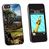 Quairaing Isle of Skye Scotland Tree Snap On Hard Protective Case for Apple iPhone 5 5S - Black