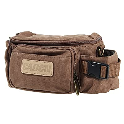 Ansee Waterproof Vintage Casual Canvas Camera Shoulder Bag for DSLR Canon and More - Coffee