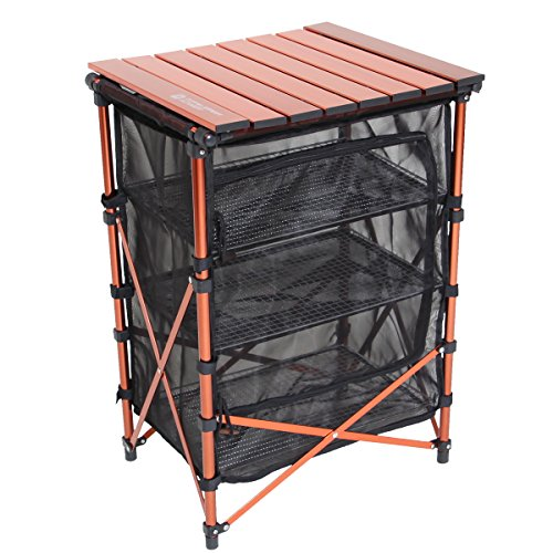DOPPELGANGER(ドッペルギャンガー) アウトドア 3wayドライネットテーブル メッシュラック 大容量  [約74L収納可] TB2-252