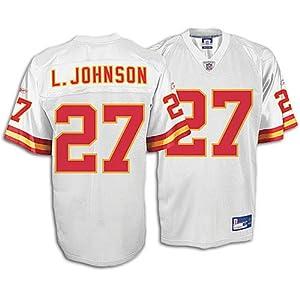 Reebok Kansas City Chiefs Larry Johnson Replica White Jersey Size: Large by Reebok