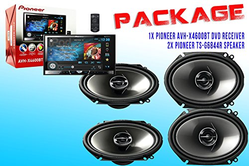 Package ! Pioneer Avh-X4600Bt Dvd Receiver + Two Set Pioneer Ts-G6844R Car Speakers - 4 Speakers