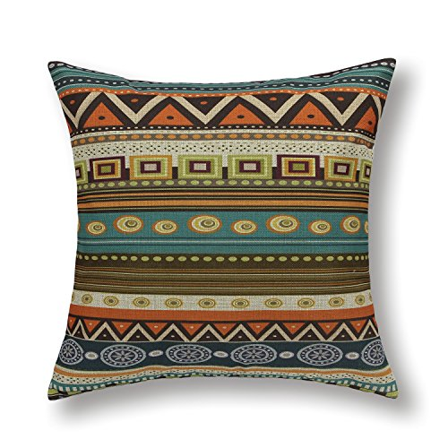"Euphoria Home Decorative Cushion Covers Pillows Shell Cotton Linen Blend Fantasy Colorful Geometric Figures 18"" X 18"" front-528676"