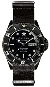 OXYGEN Black Cat 42 unisex quartz Watch with black Dial analogue Display and black leather Strap EX-DV-CAT-42-NL-BL