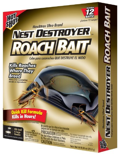 Hot Shot MaxAttrax Ultra Brand Nest Destroyer Roach Bait 2065W