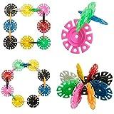 400 Pcs 3D Puzzle Jigsaw Plastic Snowflake Building Blocks Building Model Puzzle Educational Intelligence Toys For Kids