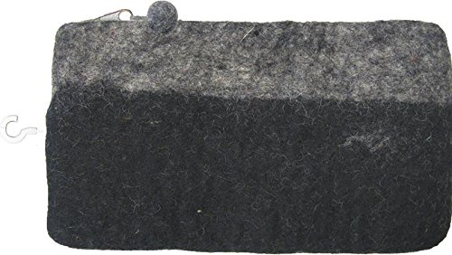 Dimensions 72-73686 Feltworks Clutch, 9.4 by 1/2 by 5-1/2-Inch, Black/Grey