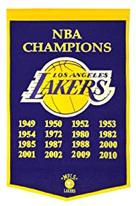 NBA Los Angeles Lakers Dynasty Banner by Winning Streak