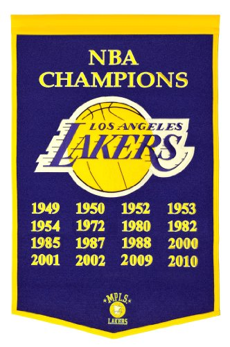 NBA Los Angeles Lakers Dynasty Banner Winning Streak Wall Banners autotags B000VUQHH4