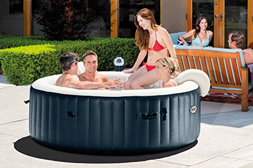intex pure spa 6 person inflatable portable heated bubble hot tub model 28409e. Black Bedroom Furniture Sets. Home Design Ideas