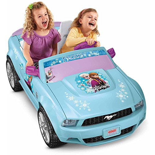 Disney Frozen Ford Mustang Battery-Powered Ride-On, Pink/Blue (Mustang Battery Car compare prices)