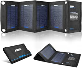 Anker 14W Solar Panel Foldable Dual-port Solar Charger with PowerIQ Technology for 5V USB-charged Devices Including GPS Units, iPhone 6 Plus 5S 5C 5 4S, iPad Air Mini, Samsung Galaxy S5 S4 Note Tab, Nexus, HTC, Motorola, Nokia, PS Vita, Gopro, more Phones and Tablets