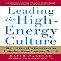 Leading the High Energy Culture: What the Best CEOs Do to Create an Atmosphere Where Employees Flourish (       UNABRIDGED) by David Casullo Narrated by Tony Craine