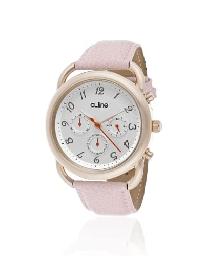 a_line Women's 80012-YG-02-PN Maya Chronograph Pink Leather Watch