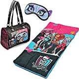 Monster High Girls Sleepover Set - Sleeping Bag, Tote Bag & Eye Mask