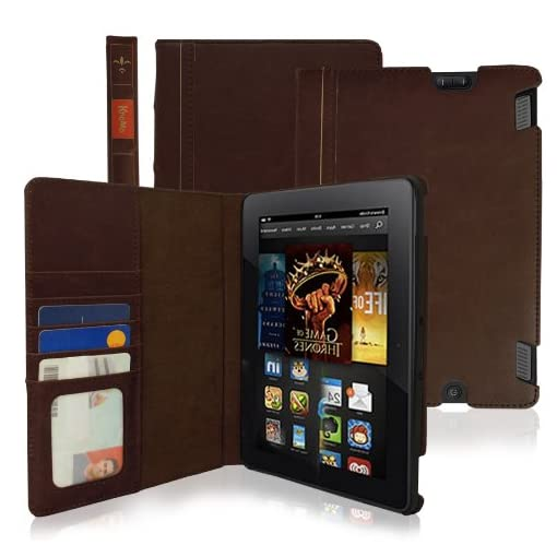 KHOMO–Brown-Book-Style-Leather-Case-for-Amazon-Kindle-Fire