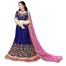 Triveni Net Lehenga Choli (TSSATGL5309_Blue)