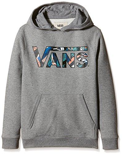 Vans - VANS CLASSIC PULLOVER HOODIE BOYS, Felpa Bambino, grigio (concrete Heather/canton Stanton Floral), Small ( Small)