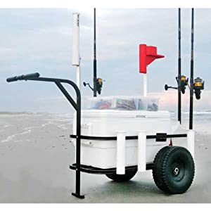 Sea Striker BRSC-DLX Beach Runner Deluxe Fishing Cart with Pneumatic Wheels by Sea Striker
