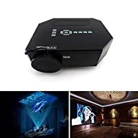 "Aketek® UC30 100"" 150 Lumens Hdmi Portable Mini LED Projector Home Cinema Theater AV/VGA/USB/SD/Micro USB(Black) from Aketek"
