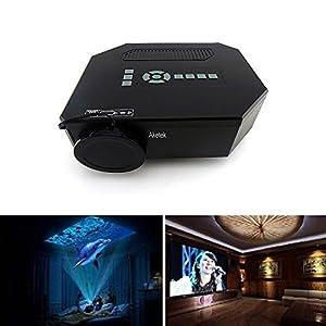"Aketek® UC30 100"" 150 Lumens Hdmi Portable Mini LED Projector Home Cinema Theater AV/VGA/USB/SD/Micro USB(Black) from Aketek"