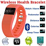 Evana (get Free TTL/Trusttel Branded Mobile Pouch) TW64 OLED Display Bluetooth 4.0 Waterproof Smart Bracelet Watch... - B01E09JAIE