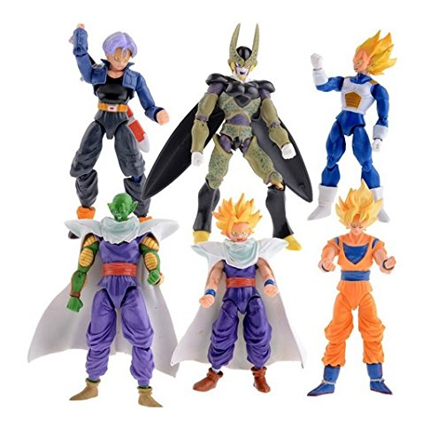 6 pcs Set New Dragonball Z Dragon Ball DBZ Anime 15cm Goku Vegeta Piccolo Gohan super saiyan Joint Movable Action Figure Toy 6 pcs Set