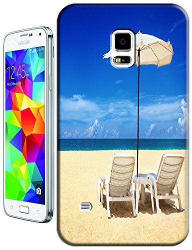 Cell Phone Case Beach Design Beautiful Sunshine Water Trees For Samsung Galaxy S5 I9600 No.6 front-176353