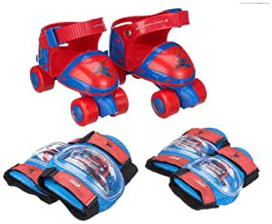 Spiderman 3 - ROS3QUSET-XS000 - Set patin baby quad rglable - avec Set 2 protections  - Coudires -Genouillres et Sac  Dos Cristal