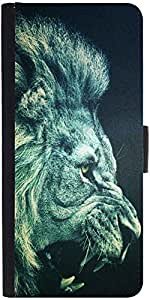 Snoogg Lion Furydesigner Protective Flip Case Cover For Samsung Galaxy S6 Edge