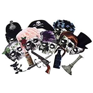 Halloween Party Skull Face Masks Disguises X 8