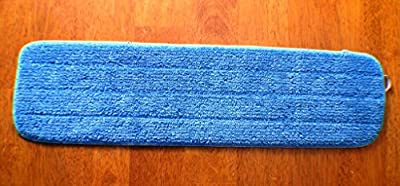 """3-pack 18"""" Microfiber Dry/Wet Mop Pads for Commercial Microfiber Mops. Washable Pads are Ideal for All Hard Surfaces!"""