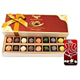 Chocholik Belgium Chocolates - 16pc Designer Box Of Truffles With 3d Mobile Cover For IPhone 6 - Gifts For Diwali