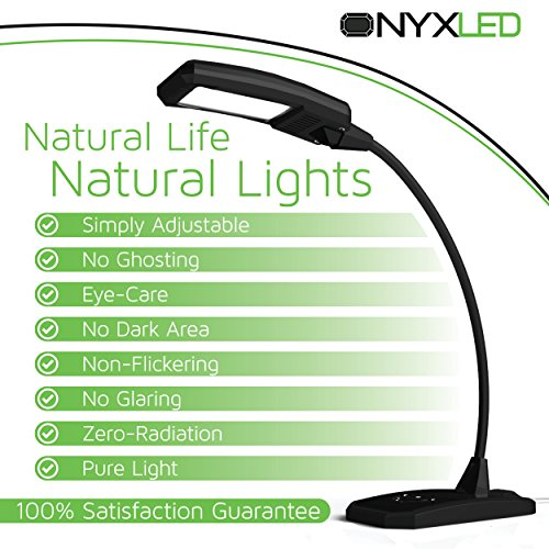 Great Deal! ★ Latest Model ★ ONYX LED Desk Lamp LS 1030 - 3 in 1 Dimmable/Adjustable/USB Outlet ...