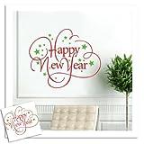 Sunshinebag ウォールステッカー ベッドルーム・リビングルームの背景 防水 壁紙 除去でき 壁飾り Wall Stickers happy new year
