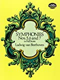 Various Beethoven Symphonies Nos. 5, 6 And 7 (Full Score) Orch