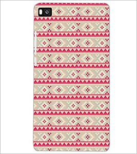 PrintDhaba Pattern D-5212 Back Case Cover for HUAWEI P8 (Multi-Coloured)