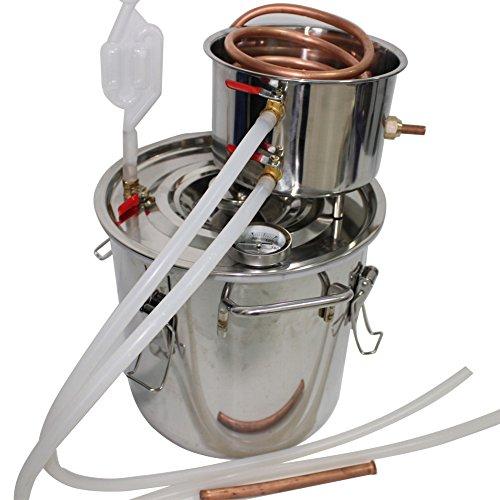 RACPLUS 2 Pots 3 Gal 12L Home Distiller Moonshine Alcohol Still Stainless Boiler Copper Thumper Keg (Stainless Still Boiler compare prices)
