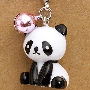 cute panda bear phone strap pink