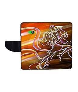 KolorEdge Printed Flip Cover For Microsoft Lumia 535 Multicolor - (50KeMlogo09919Lumia535)