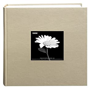 Pioneer 200 Pocket Fabric Frame Cover Photo Album, Biscotti Beige