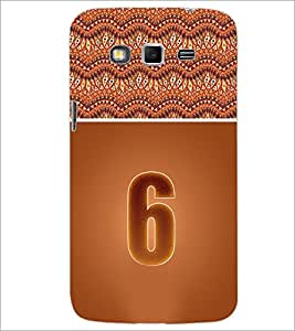 PrintDhaba Numerology Number 6 D-3638 Back Case Cover for SAMSUNG GALAXY GRAND 2 (Multi-Coloured)
