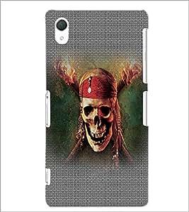 PrintDhaba Pirate Skull D-5015 Back Case Cover for SONY XPERIA Z2 (Multi-Coloured)