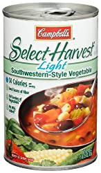 Campbell's Select Harvest Light Southwestern-Style Vegetable Soup, 18.6-Ounce Cans (Pack of 12)