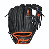 Wilson A1K DP15 Infielders Neon Orange Baseball Glove RHT 11.5'' WTA1KRB15DP15OR