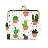 GBSELL Womens Fresh Cactus Wallet Card Holder Coin Purse Clutch Handbag (B)